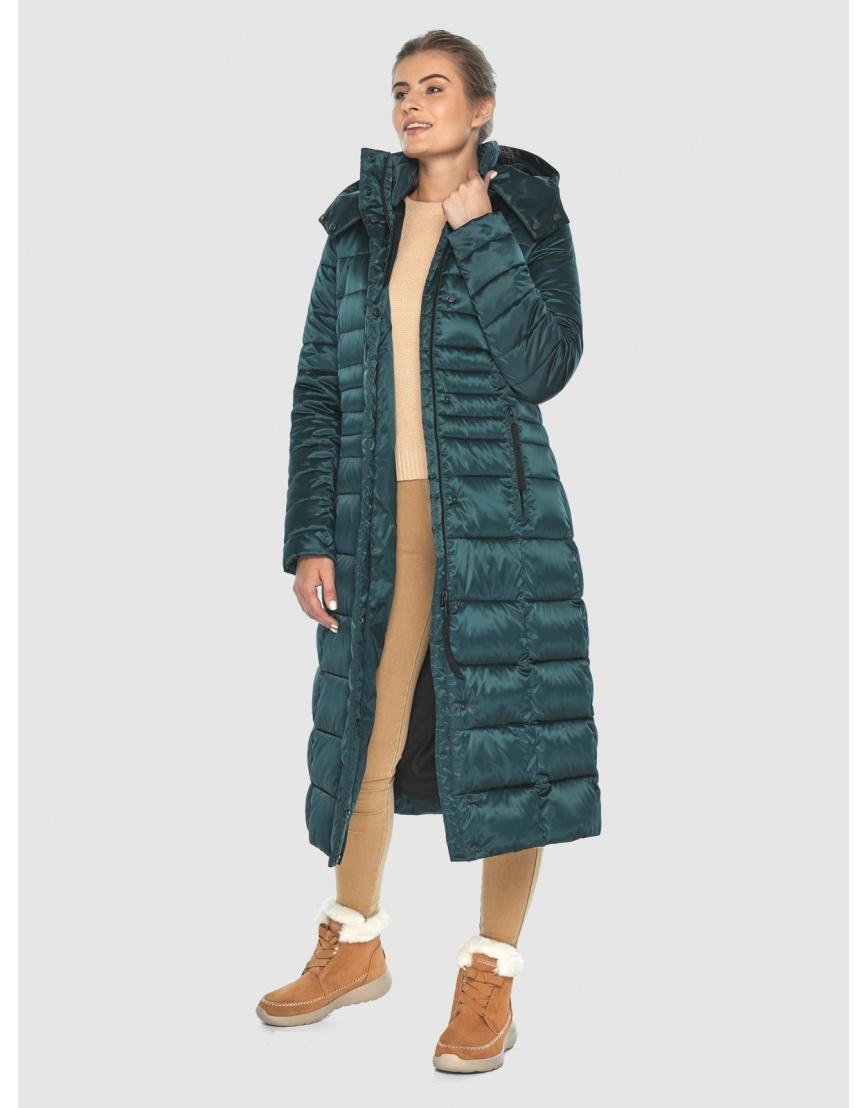 Зелёная элегантная куртка подростковая Ajento для зимы 21375 фото 6