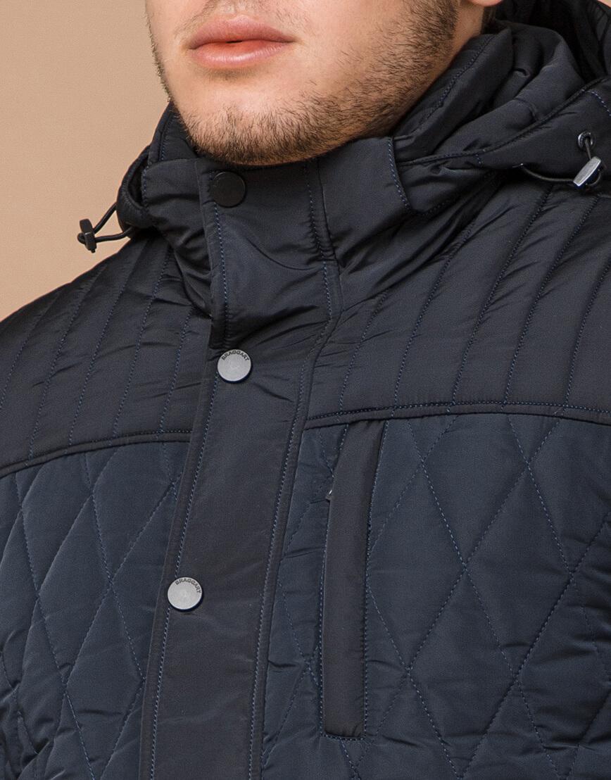 Теплая светло-синяя куртка на зиму модель 30538 фото 4