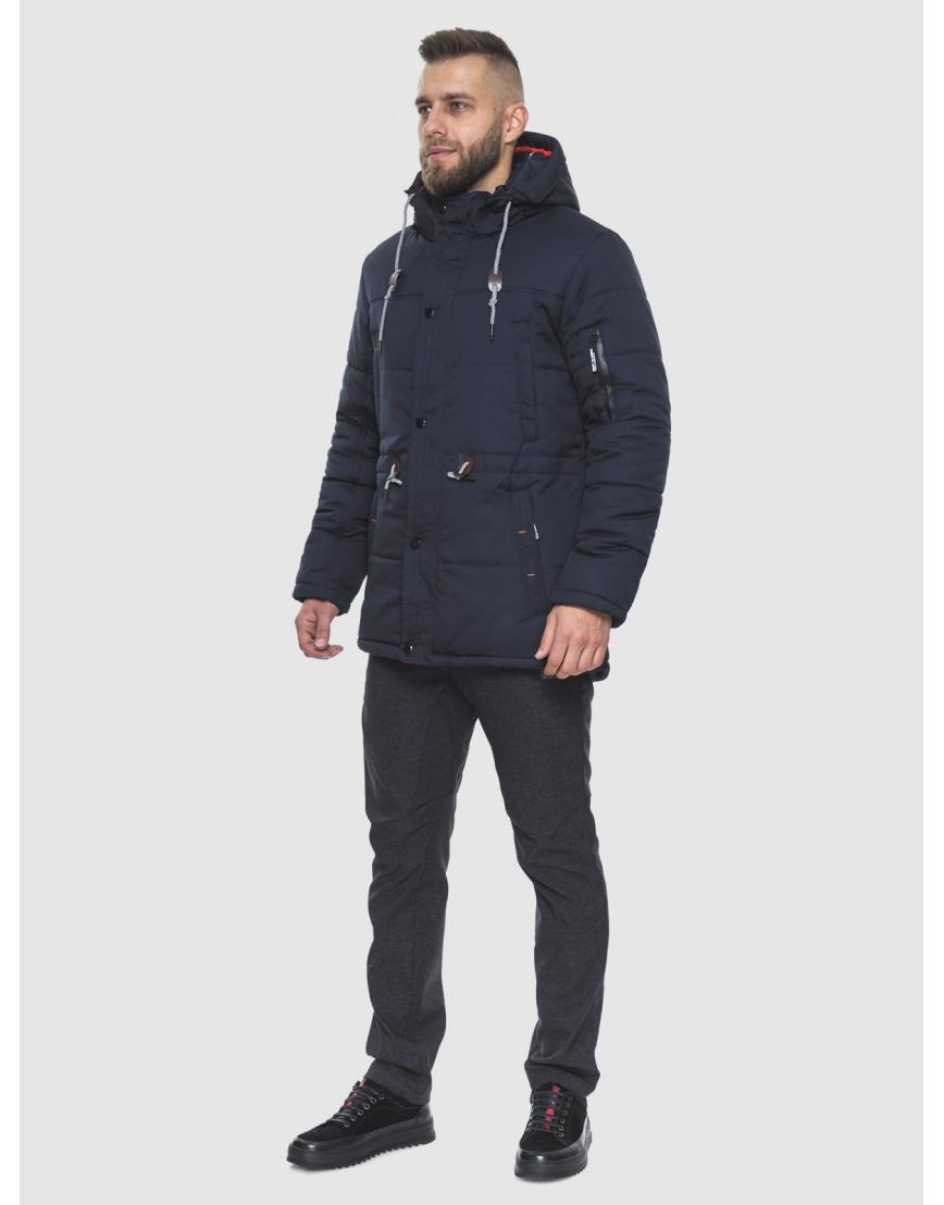 Трендовая куртка темно-синяя модель 1601 фото 1