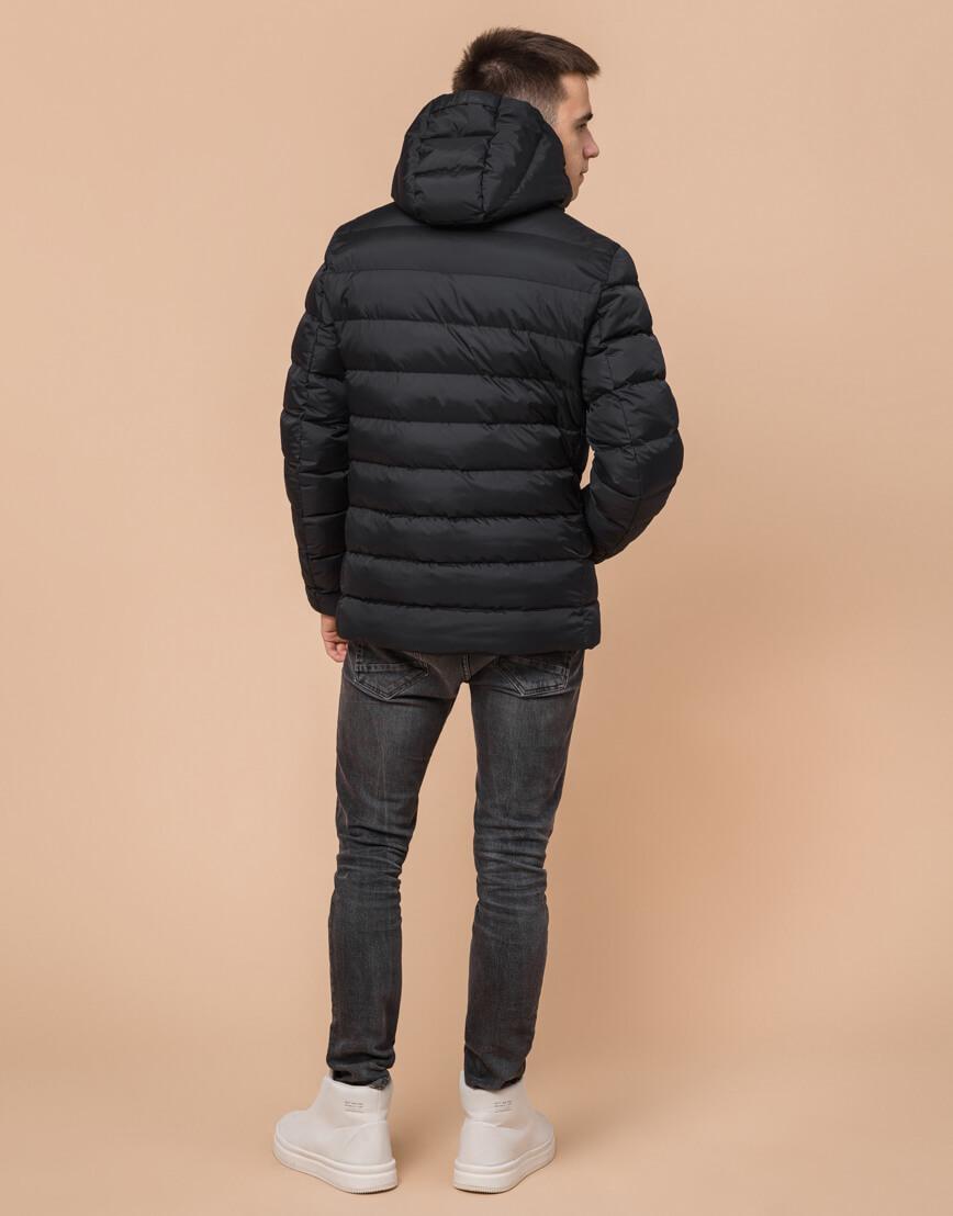 Комфортная черная подростковая куртка на зиму модель 76025 оптом фото 4