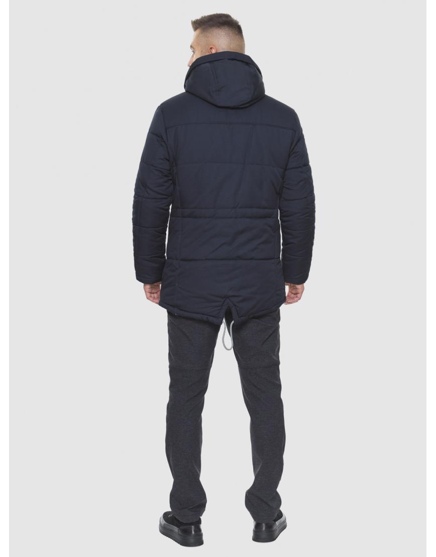 Трендовая куртка темно-синяя модель 1601 фото 2