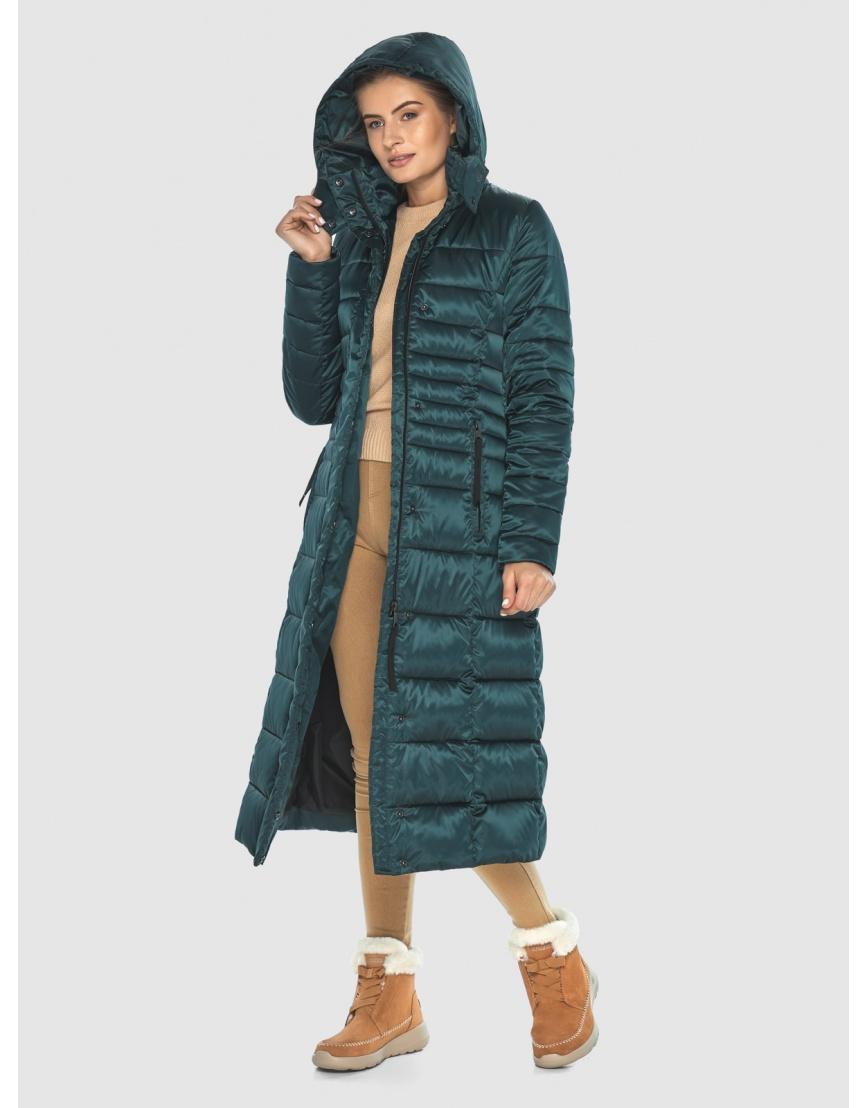 Зелёная элегантная куртка подростковая Ajento для зимы 21375 фото 3