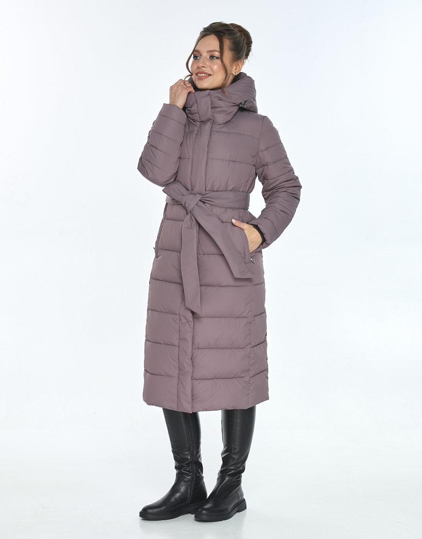 Куртка комфортная женская Ajento зимняя цвет пудра 21152 фото 2