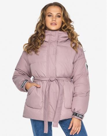 Пуховик куртка Youth пудровая оригинальная женская модель 21045 фото 1