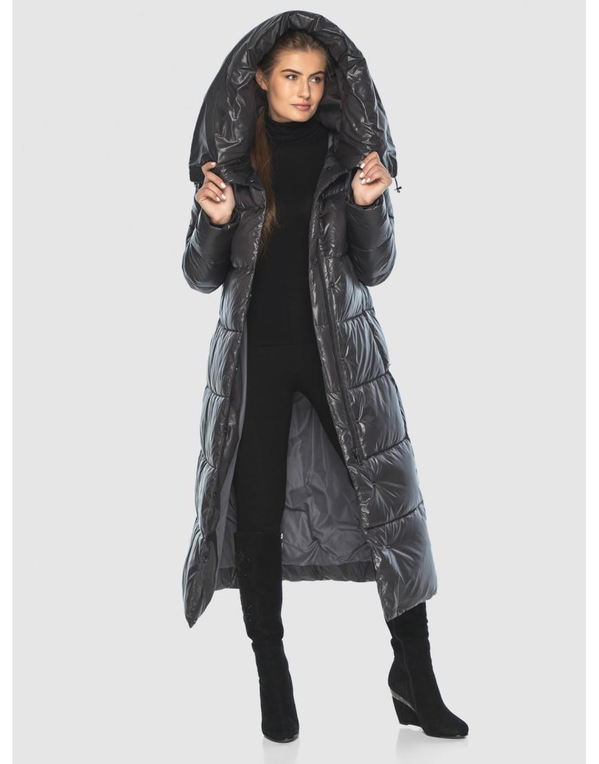 Женская длинная куртка Ajento серая 21550 фото 1