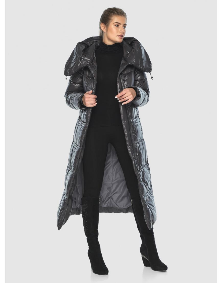Женская длинная куртка Ajento серая 21550 фото 2