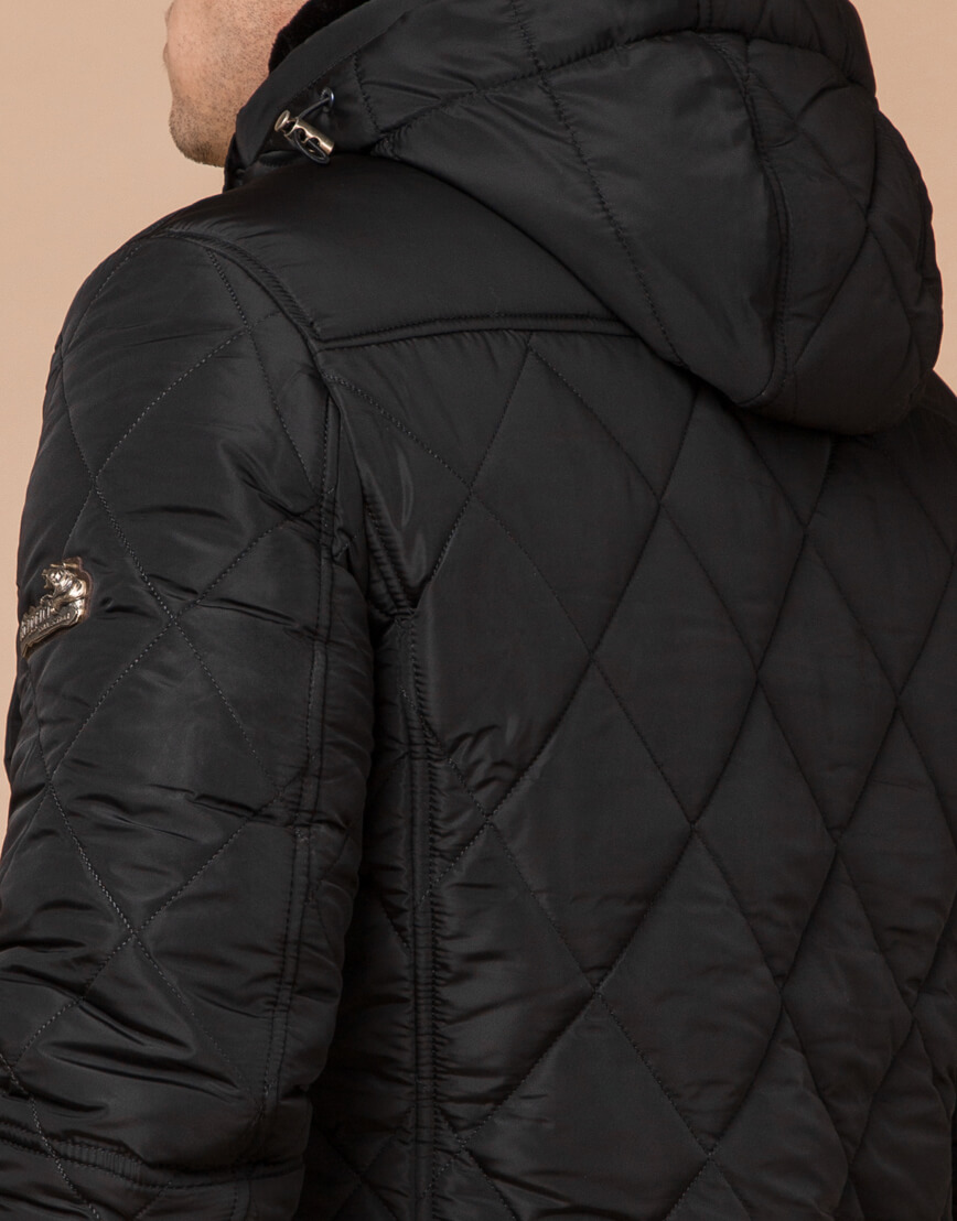 Трендовая зимняя куртка цвет черный модель 44842 фото 6