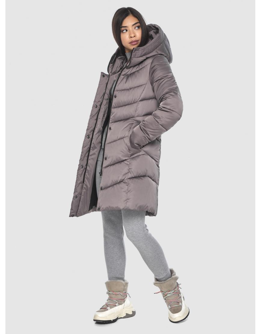 Женская куртка Moc средней длины цвет пудра M6540 фото 5