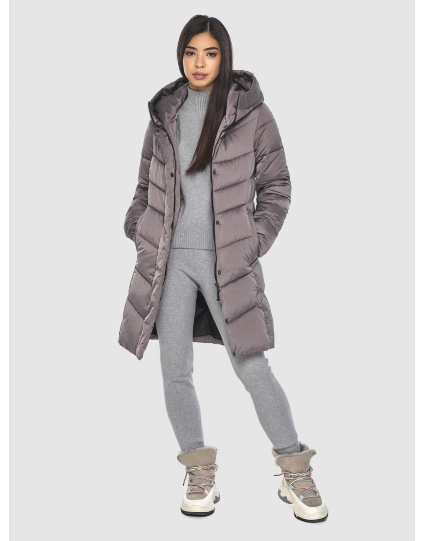 Женская куртка Moc средней длины цвет пудра M6540 фото 2