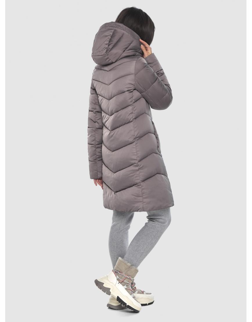 Женская куртка Moc средней длины цвет пудра M6540 фото 4