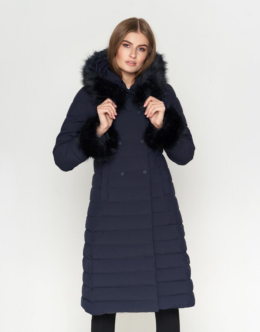 Стильная синяя женская куртка модель 6612 фото 1