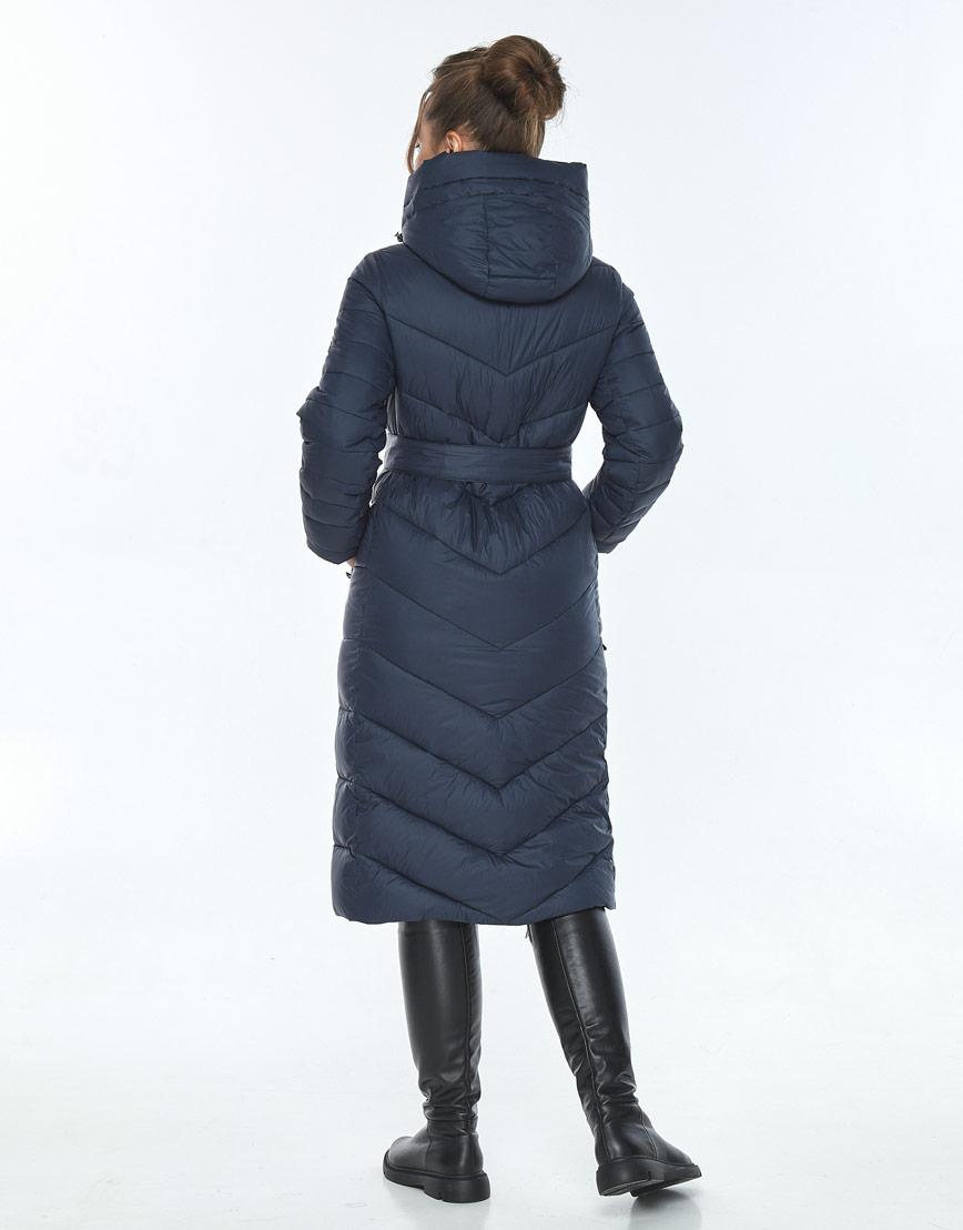 Куртка модная женская Ajento зимняя синяя 21152 фото 3