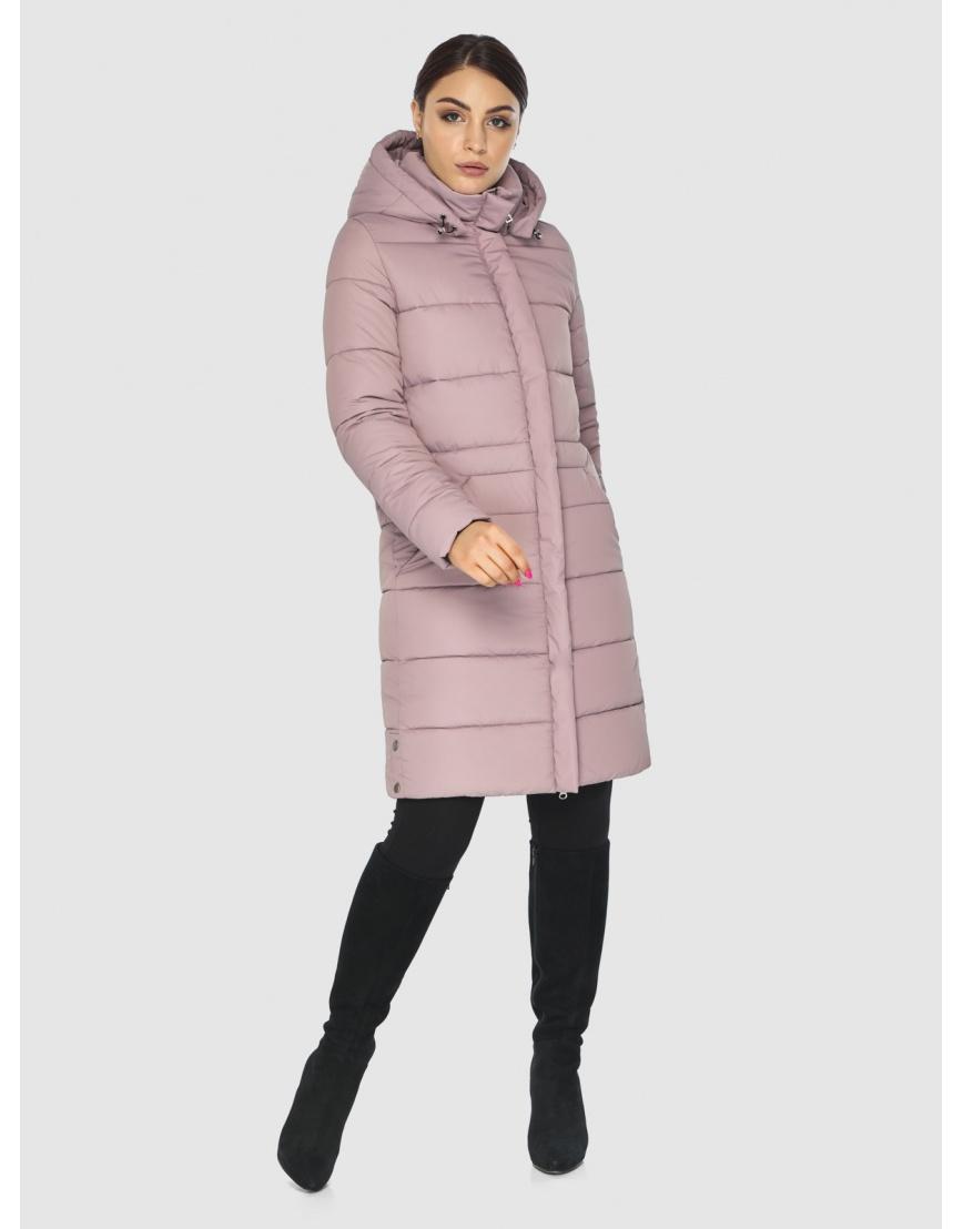 Стёганая пудровая практичная подростковая куртка Wild Club для зимы 584-52 фото 2
