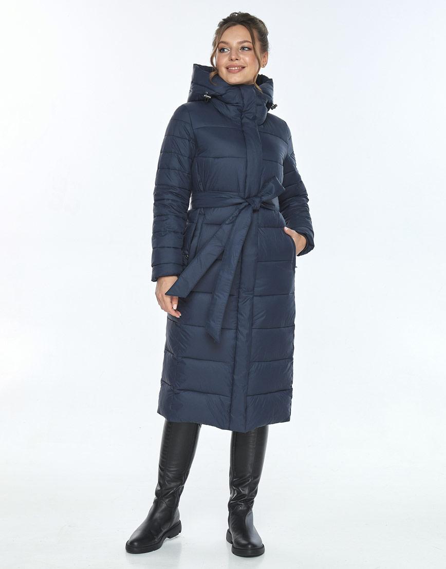 Куртка модная женская Ajento зимняя синяя 21152 фото 1