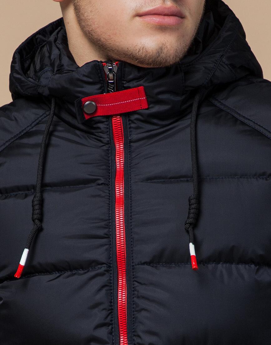 Зимняя мужская куртка цвет темно-синий-красный модель 10168 оптом