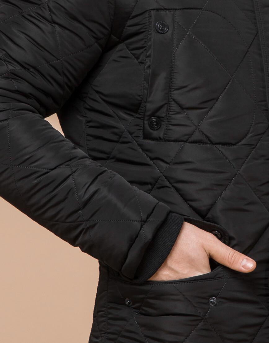 Трендовая зимняя куртка цвет черный модель 44842 фото 5