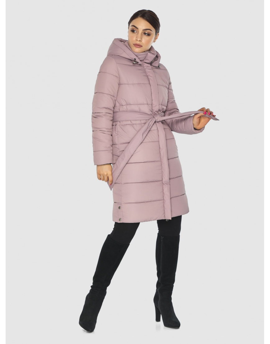 Стёганая пудровая практичная подростковая куртка Wild Club для зимы 584-52 фото 1