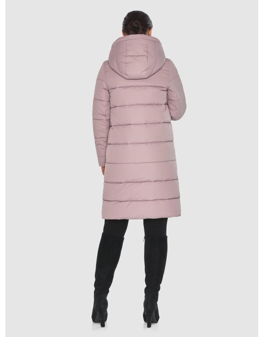Стёганая пудровая практичная подростковая куртка Wild Club для зимы 584-52 фото 4