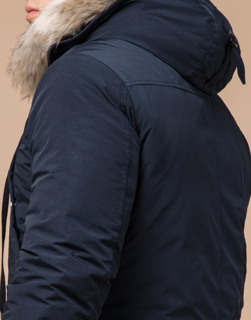 Синяя мужская парка на зиму модель 15231 оптом фото 6