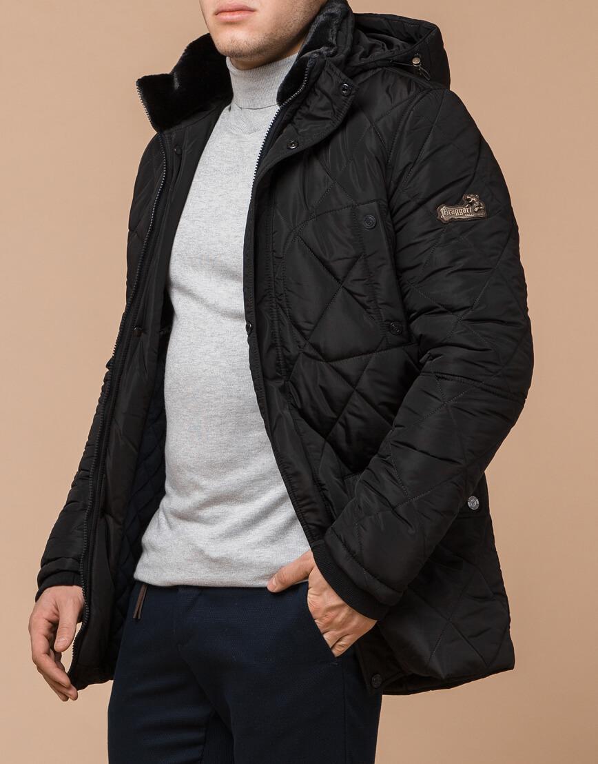 Трендовая зимняя куртка цвет черный модель 44842