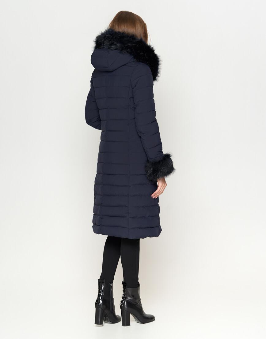 Стильная синяя женская куртка модель 6612 фото 4