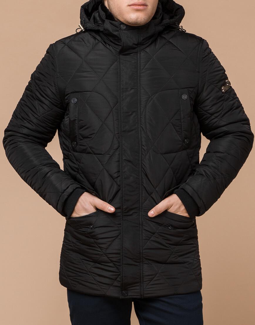 Трендовая зимняя куртка цвет черный модель 44842 фото 1
