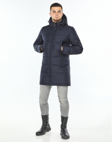 Темно-синяя удобная куртка фирменная модель 35170