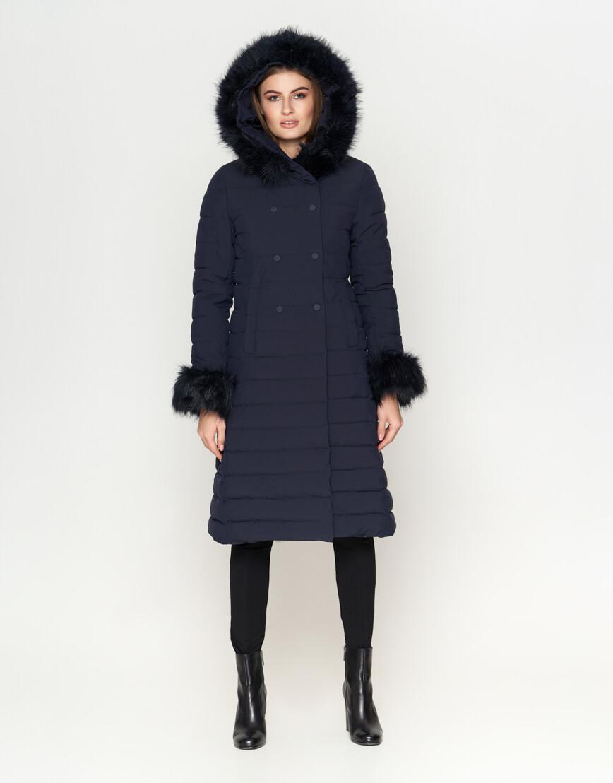 Стильная синяя женская куртка модель 6612 фото 3