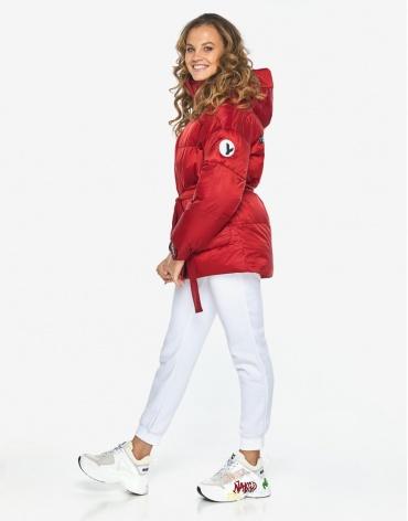 Куртка пуховик Youth стильный рубиновый женский модель 21045 фото 1