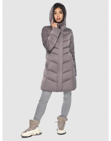 Женская куртка Moc средней длины цвет пудра M6540 фото 1