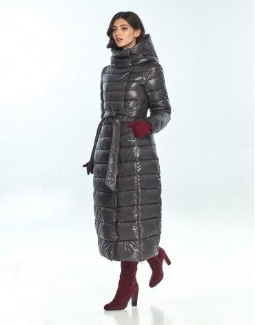 Куртка длинная женская Vivacana серая 8320/21 фото 1