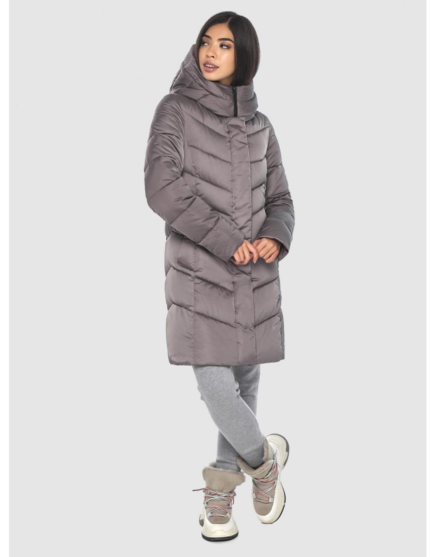 Женская куртка Moc средней длины цвет пудра M6540 фото 6