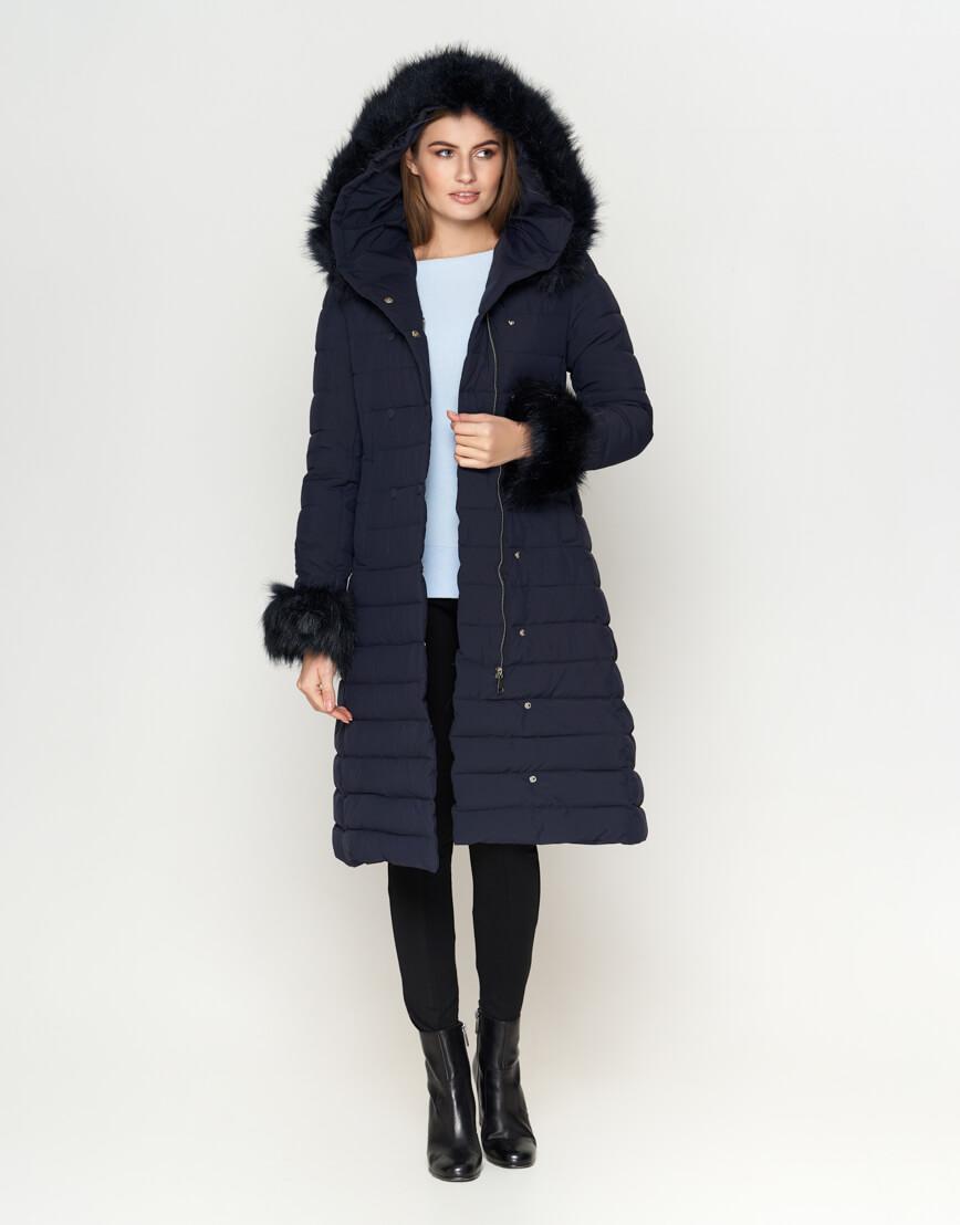 Стильная синяя женская куртка модель 6612 фото 2