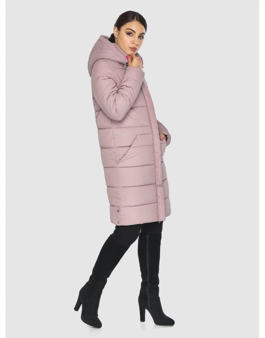 Стёганая пудровая практичная подростковая куртка Wild Club для зимы 584-52 фото 5