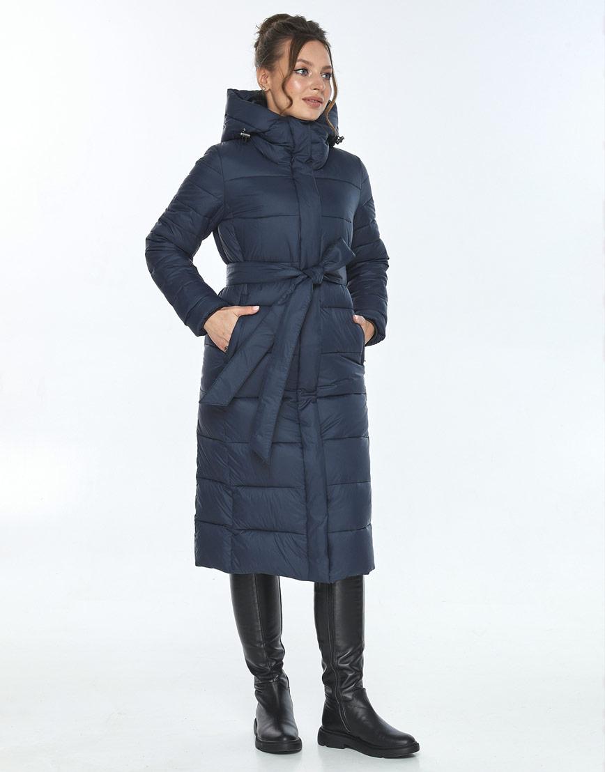 Куртка модная женская Ajento зимняя синяя 21152 фото 2