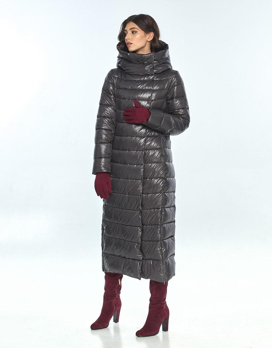 Куртка длинная женская Vivacana серая 8320/21 фото 2