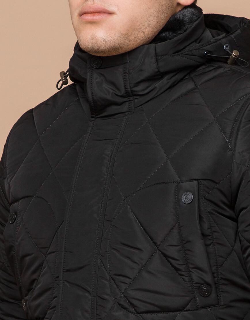 Трендовая зимняя куртка цвет черный модель 44842 фото 4