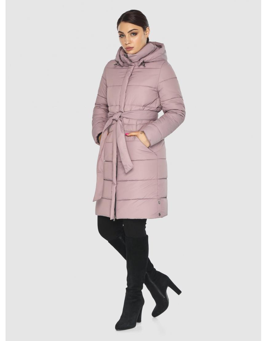 Стёганая пудровая практичная подростковая куртка Wild Club для зимы 584-52 фото 6