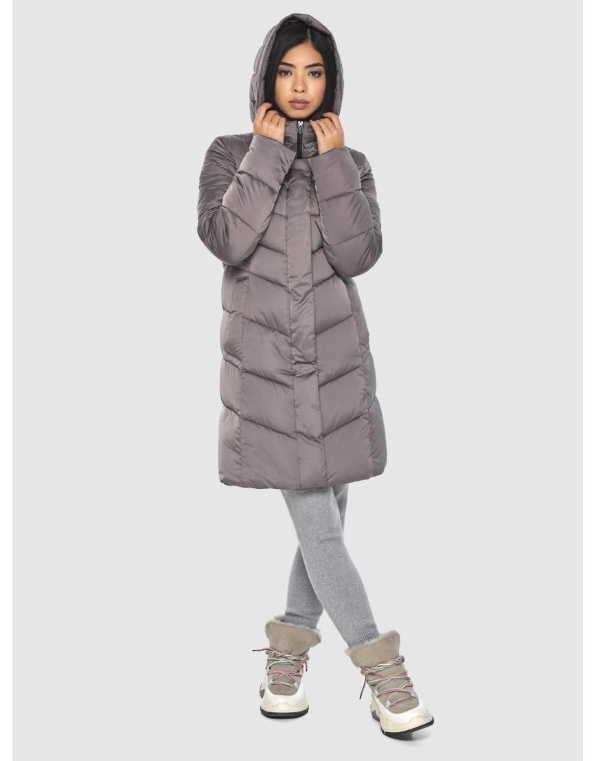 Женская куртка Moc средней длины цвет пудра M6540 фото 3