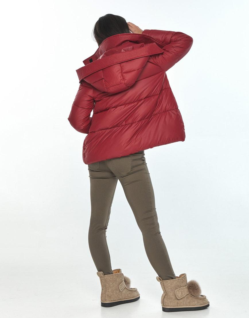 Трендовая женская короткая куртка Moc красная M6981 фото 3