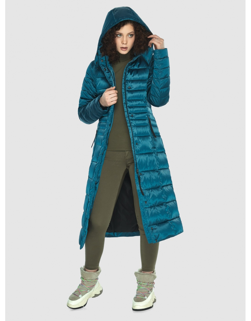 Аквамариновая курточка приталенного силуэта зимняя Moc для подростков M6430 фото 3