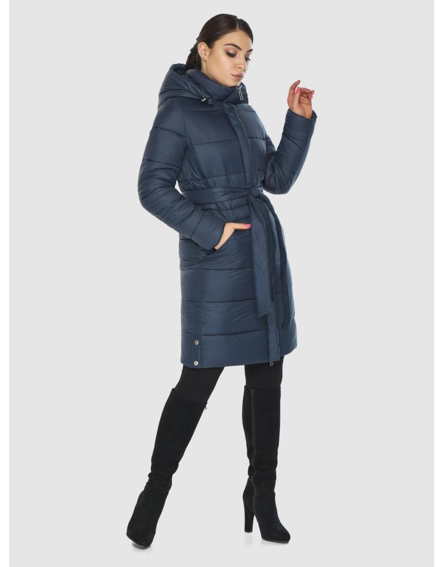 Роскошная куртка зимняя подростковая Wild Club цвет синий 584-52 фото 3
