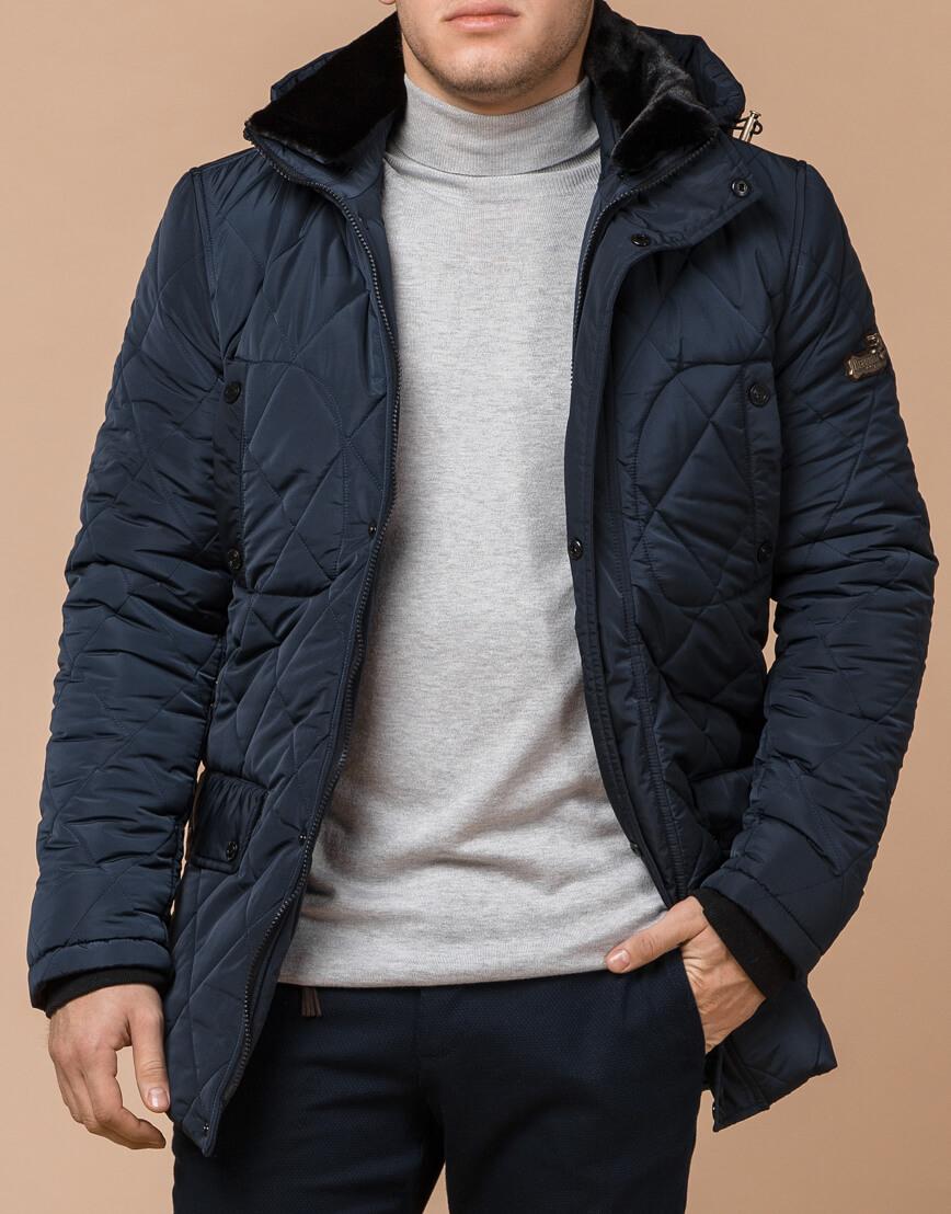 Куртка фирменная светло-синего цвета модель 44842 фото 2