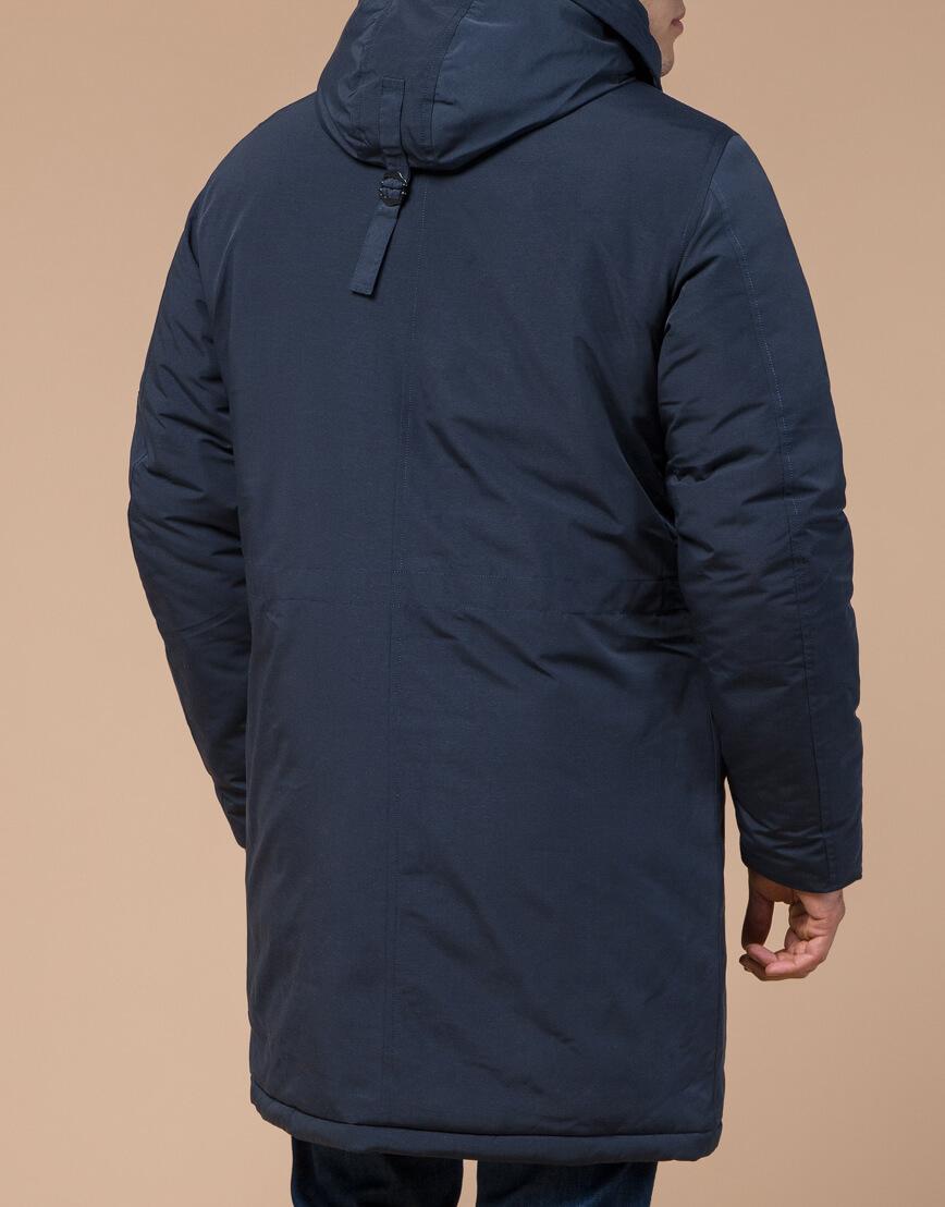 Синяя парка зимняя брендовая мужская модель 23675 фото 3
