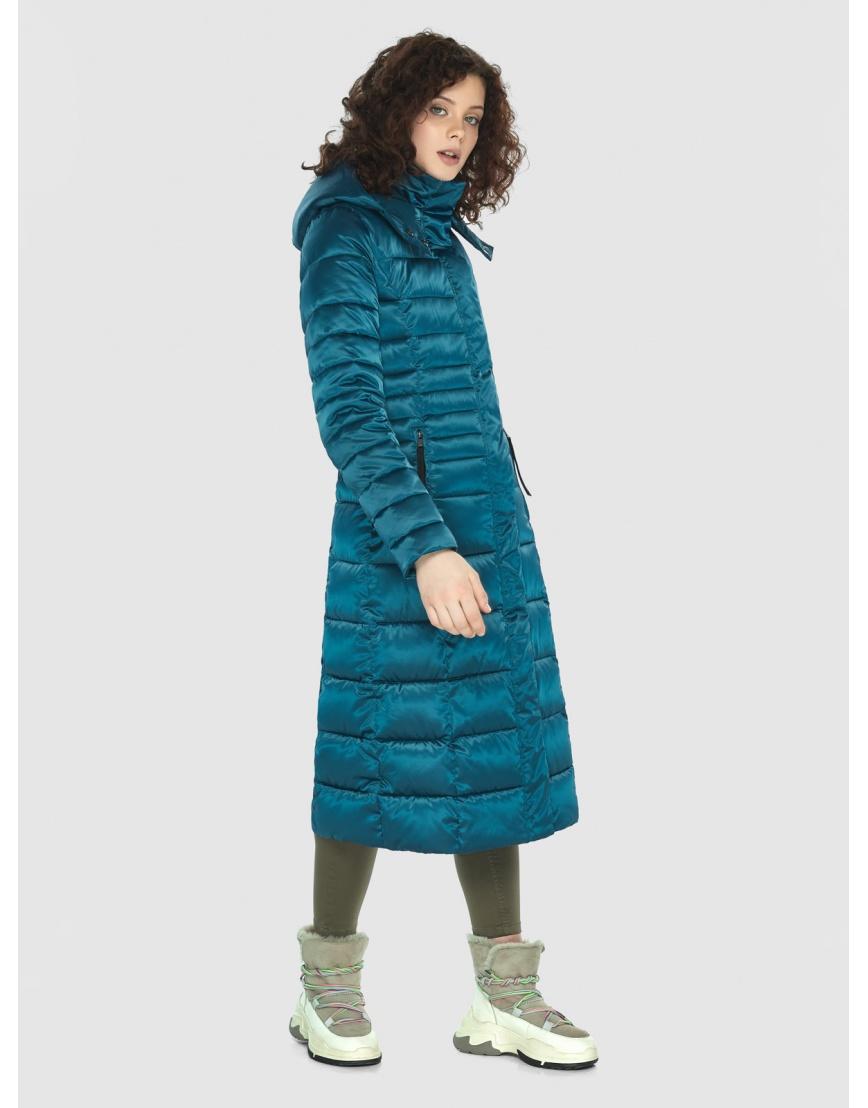 Аквамариновая курточка приталенного силуэта зимняя Moc для подростков M6430 фото 5