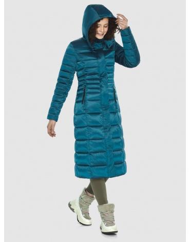 Аквамариновая курточка приталенного силуэта зимняя Moc для подростков M6430 фото 1