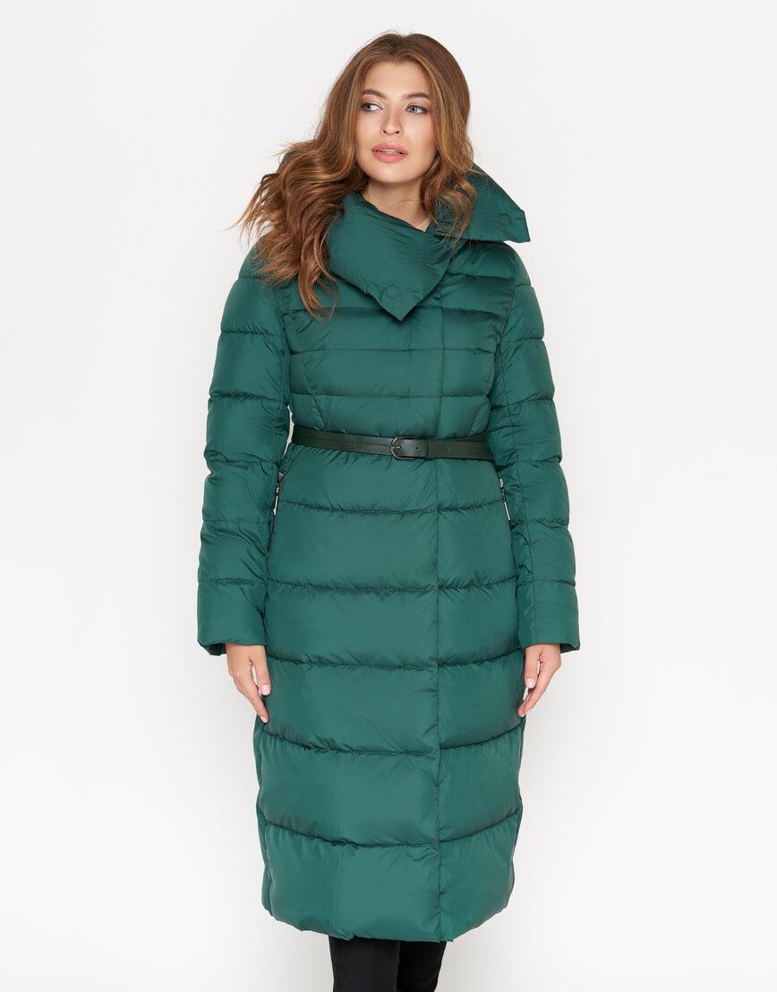 Длинная зеленая женская куртка модель 902