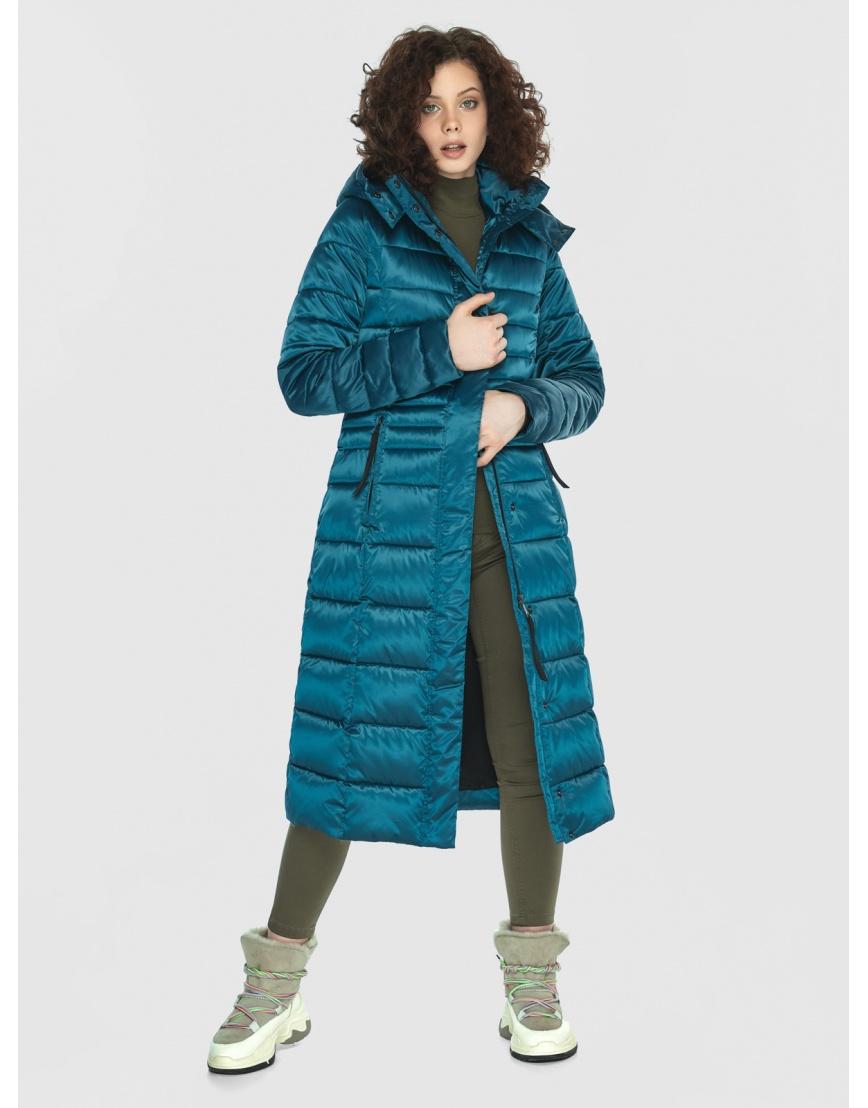 Аквамариновая курточка приталенного силуэта зимняя Moc для подростков M6430 фото 6
