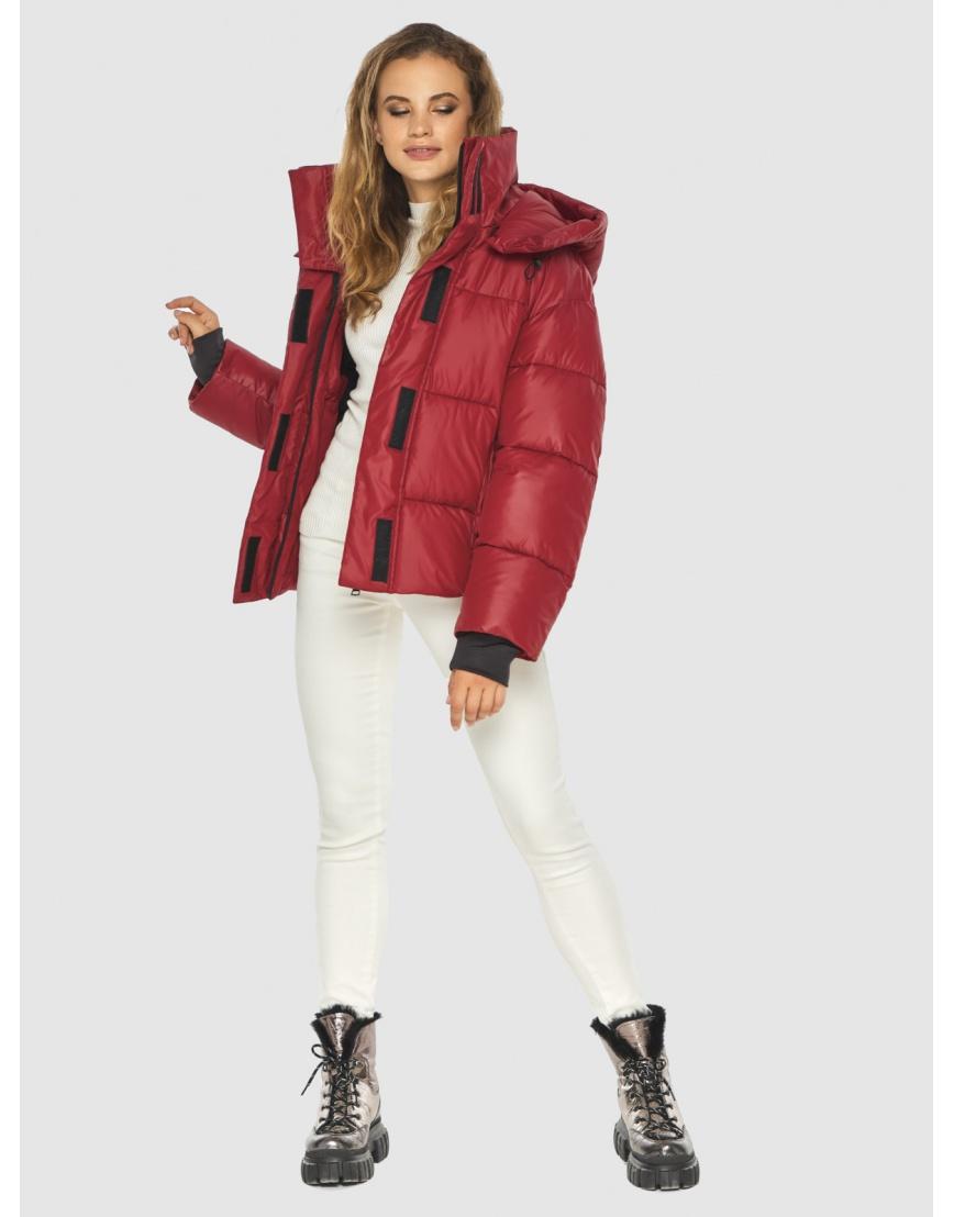 Фирменная куртка женская Kiro Tokao красная 60085 фото 5