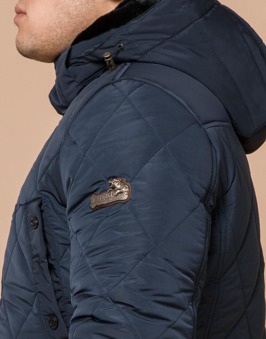 Куртка фирменная светло-синего цвета модель 44842 фото 6